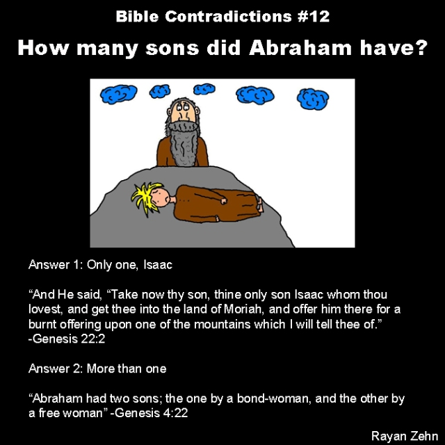 Bible contradictions 12
