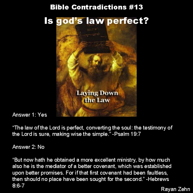Bible contradictions 13