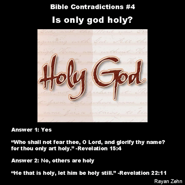 Bible contradictions 4