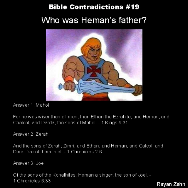 Bible contradictions 19