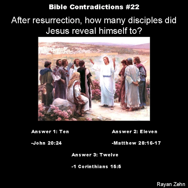 Bible contradictions 22