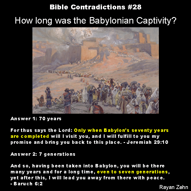 28 how long was the babylonian captivity the atheist papers