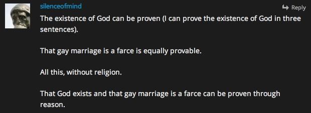 prove god 3 sentences