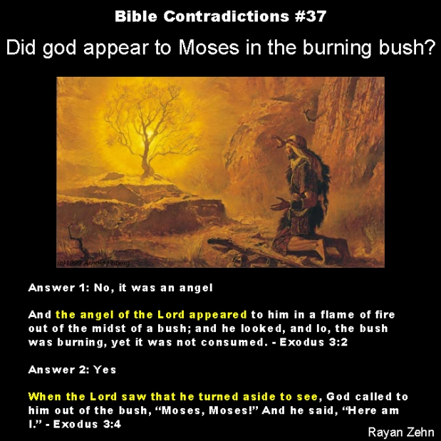 Bible Contradictions 37 Did God Appear To Moses In The