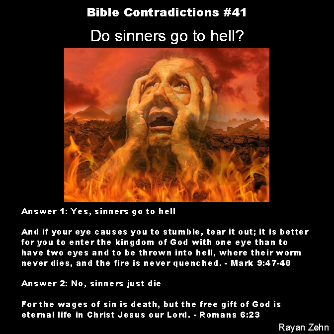 bible contradictions 41 do sinners go to hell the
