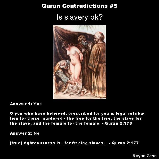 Quran contradictions 5 is slavery ok the atheist papers