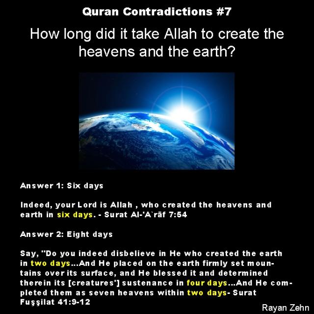 quran contradictions 7