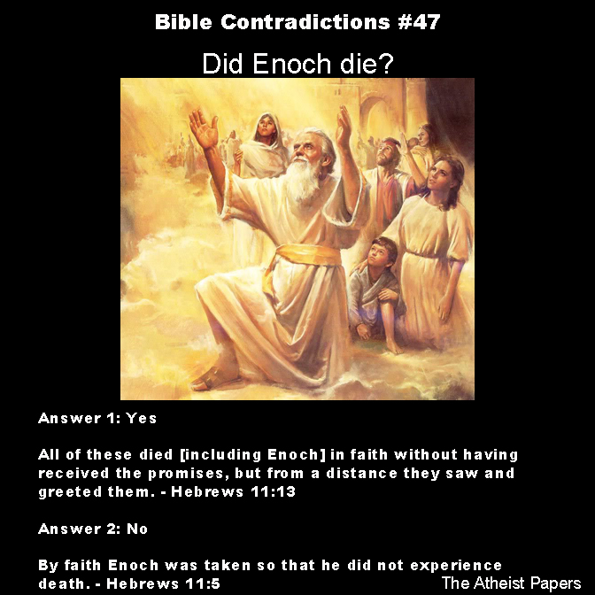 contradictions of the bible Contradictions in the bible how many men did the chief of david's captains kill was abraham justified by faith or by works how many sons did abraham have.