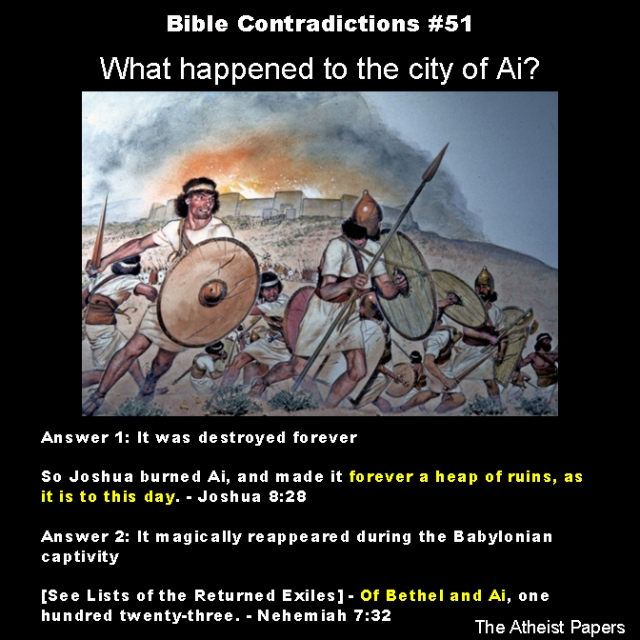 Bible contradictions 51