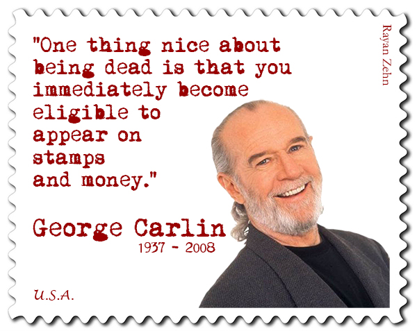 George Carlin Stamp medium